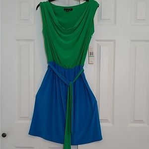 Two toned sleeveless dress